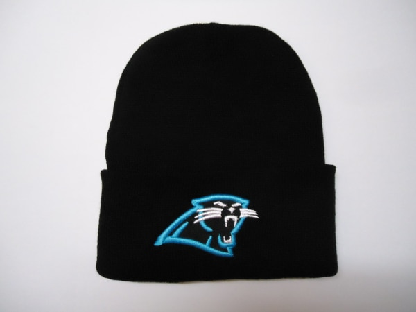 promo code 87165 40095 (New - Never Worn) - CAROLINA PANTHERS black THERMAL KNIT HAT ski cap  BEANIE embroidered NFL new