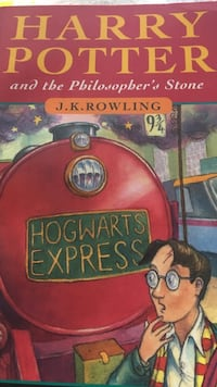 Harry Potter and the Philosopher's Stone by J.K. Rowling book