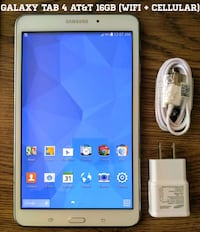 Galaxy Tab 4 AT&T 16gb (WiFi + 4G) 8 inch screen  Arlington