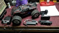black and gray RC monster truck