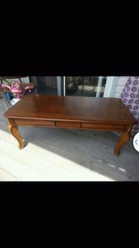 rectangular brown wooden coffee table West Des Moines, 50266
