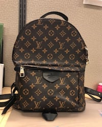 Black and brown louis vuitton leather backpack SeaTac, 98148