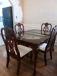 cherry wood table & 4 chairs