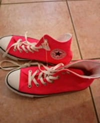 pair of red Converse All Star high top sneakers Markham, L3S 4K1