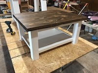 Rectangular white and black wooden coffee table London, N6G 4M2