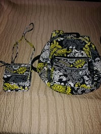 black and multicolored floral Vera Bradley crossbody bag Midwest City, 73110