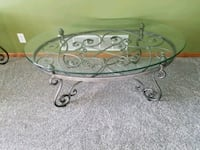 round clear glass top coffee table Bennington, 68007