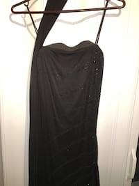 Black strapless stretchy dress - KITT brand Toronto, M2K
