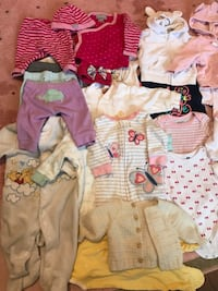 BABY GIRL CLOTHES 0-6 months Mississauga, L4Z 1H1