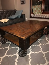 rectangular brown wooden coffee table Carson, 90745