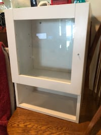 white wooden framed glass cabinet Falls Church, 22043