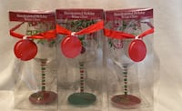 Holiday Wine Glasses - Hand Painted