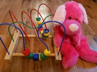 pink and multicolored crib mobile Laval, H7W