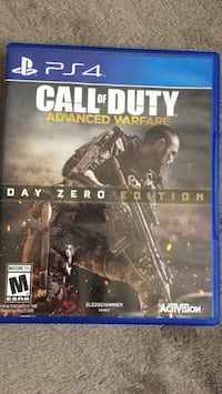Call of duty advanced warfare ps4 game case Anaheim, 92804
