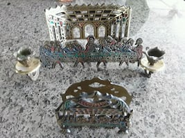 Holy Land last supper and napkin holder