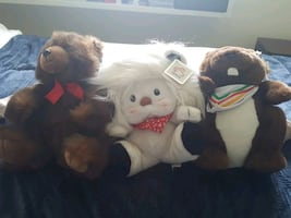 3 plushies for Sale