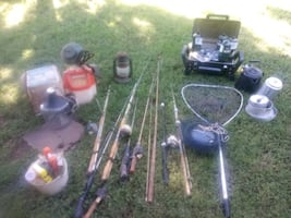 fishing camping equipment see below for pricing