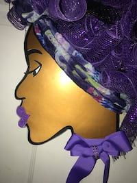 "Head Wreath ""Purple Hair,Don't Care"""
