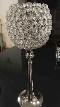 Crystal embossed candle holder