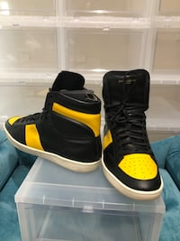 pair of black-and-yellow high top sneakers Fountain Valley, 92708