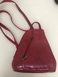 Small Red leather backpack  Saskatoon, S7W 0N7