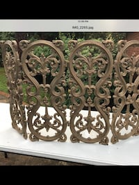 Vintage Cast Iron ,Wrought Iron Fire place Screen Houston, 77055