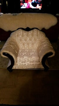 brown and white floral sofa chair Suitland-Silver Hill, 20746