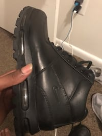 black leather side-zip boot Washington, 20017