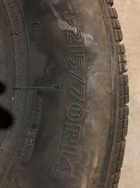 "2) matrix 14"" tires. No broken belts and hold air fair condition"