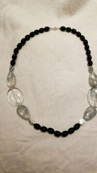 black and silver beaded necklace Takoma Park, 20912