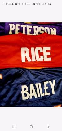 Men's NFL jerseys. Adrian Peterson/Champ Bailey/ Jerry Rice Silver Spring, 20902