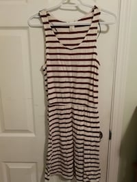 Red and white striped HM dress null