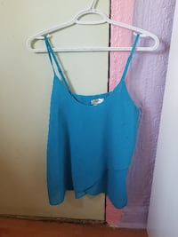 women's blue strap top camisole bleu small  Laval