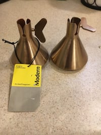2 wingnut tapered candle holders