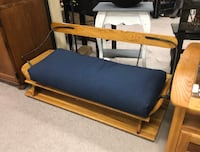 (SJA) Country Buggy Bench w/ Blue Cushion Seat