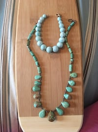 Turquoise stone bracelet and 8.5 inch necklace set Vaughan, L4H 1Y7