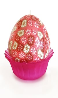 Decorative Egg Shaped Candle w/ Frosted Glass Holder Budd Lake, 07828