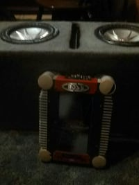 2-10's not a ported box with amp
