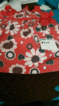 red and white floral textile Greenville, 29609