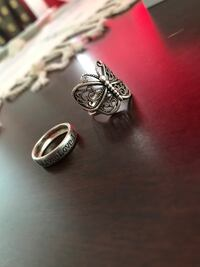 Sterling silver rings -$20 for both size 5 London, N5Y 4V4