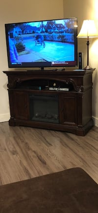 TV stand with fireplace  1011 mi