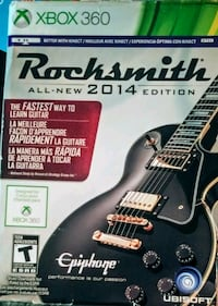XBOX 360 Rocksmith 2014 edition brand new in box never opened sealed