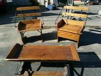 Authenic Wagon Bench and unique heavy duty chairs Flushing, 48433