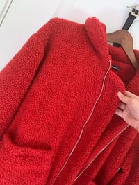 red knitted zip-up hoodie Moreno Valley, 92555