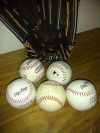 five white-and-red Rawlings baseballs Halethorpe, 21227