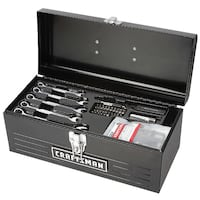 "NEW Craftsman 130pc Mechanics Tool Set With 16"" Metal Hand Box Centreville"