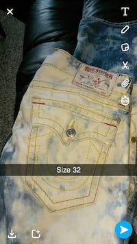 Distressed bleached true religion jeans  Fairfield, 94533