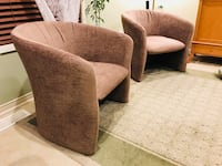 Four 4 Accent Sitting Chairs Brown Toronto, M2J