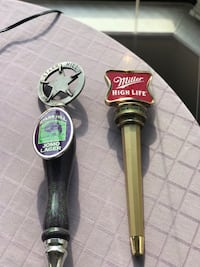 Beer Tap Handles from Black Cat's Red Room