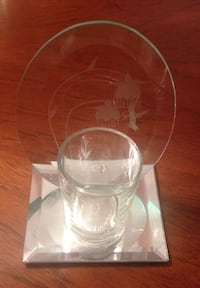Etched Glass Candle Holder BURNABY